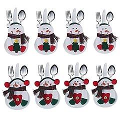 Idea Regalo - Portaposate Costume da Babbo Natale, Natale, decorazione per tavolo (8pcs)
