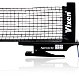 #7: Vixen Star Hi-Quality and Innovative Retractable Table-Tennis Net with Adjustable Length and Push Clamps – Portable and Fits Most Tables