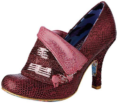 IRRA4|#Irregular Choice Flick Flack, Zapatos de tacón con Punta Cerrada para Mujer, Pink DF, 8 EU