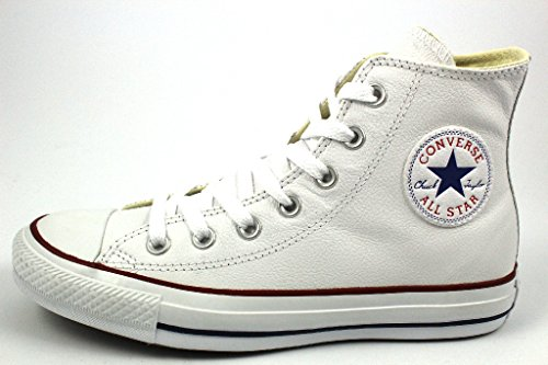 Converse Chuck Taylor All Star Core Lea Hi, Baskets mode mixte adulte Bianco (bianco)