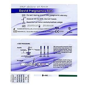 50 x David Schwangerschaftstest Streifen 10 miu/ml HCG pregnancy test