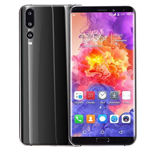 TianranRT Acht Kerne 6,1 Zoll Dual HD Kamera GSM WiFi Smartphone Android 8 GB Dual-SIM-Handy (Schwarz)