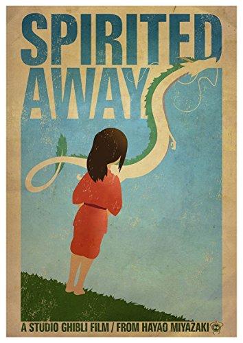 Instabuy Poster Spirited Away (Chihiros Reise ins Zauberland) - Theaterplakat- A3 (42x30 cm)