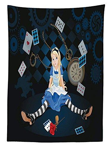 rland Tischdecke Outdoor, Sich Gr??e sitzend Flying Karten Rose Karierte Cartoon, dekorative waschbar Picnic Tischdecke, Multicolor 60