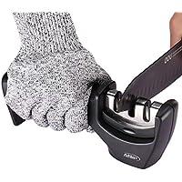 Afilador de Cuchillos Profesional | Seguro, Fácil y Rápido de Usar | Premium | Incluye Guantes Anticorte de Regalo por Afila+.