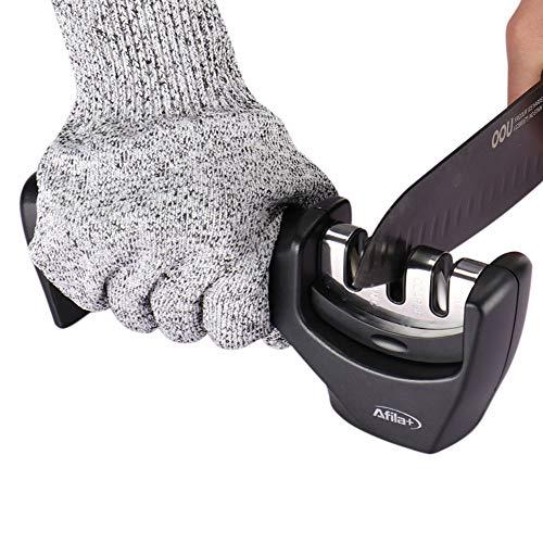 Afilador de Cuchillos Profesional | Seguro, Fácil y Rápido de Usar |...