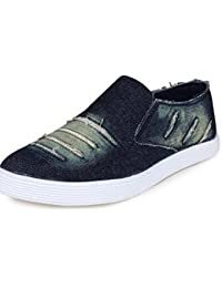 Deekada Mens Blue Slip-on Casual Shoes/Sneakers/Loafers