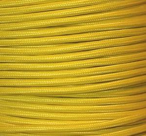 Textilkabel Stoffkabel gelb , 3-adrig rund , 3x0,75 von Globe Warehouse bei Lampenhans.de