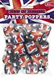 Best of British Union Jack Party Poppers, Pack of 20