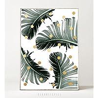 Kunstdruck / Bild PALM DOTS -ungerahmt- Palme, tropisch, Blatt, Punkte, Pflanze, Natur, abstrakt
