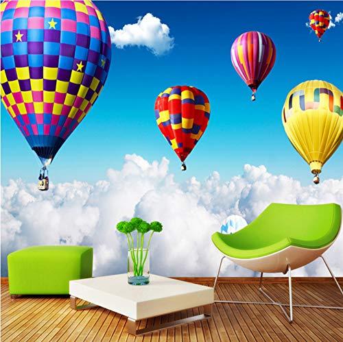 rdefinierte Bunte Heiße Ballon Foto Wandbild 3D Cartoon Vliestapete Für Kinder Schlafzimmer Wohnzimmer Wohnkultur Möbeldekoration (W)140x(H)100cm ()