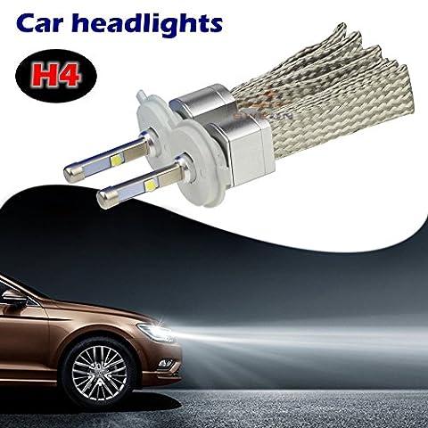 sweon Lot de 2ampoules H480W Voiture 6000K voiture Ampoules de conversion de Phare Lampe Frontale LED Cree xhp-504800LM H1H3H7H11H1390049005900690079012