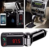 Spykart Dual USB Car Charger Hands-Free Wireless Bluetooth FM Transmitter and Music Adapter