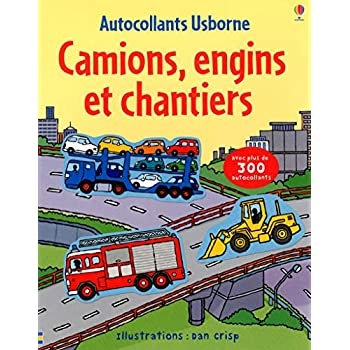 Camions, engins et chantiers - Autocollants Usborne