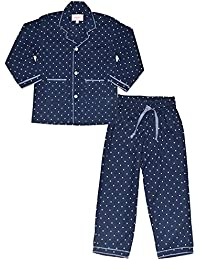 ShopMozo - Blue Polka Dots Printed Girls Night Suit (Girls Night Dress)