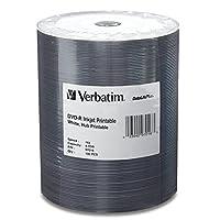 Verbatim 94971 DVD-R نفاث للحبر قابل للطباعة أبيض لا يوجد حلقة للطاولة White Inkjet Printable-100 Dic 0.1