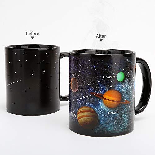 BBBIG Mugs Becher Stern- Sonnensystem- Farbwechsel-Schalen-Kreatives Geschenk- Keramische Farbwechsel-Schale Kreativ Kaffeetasse Stern ()