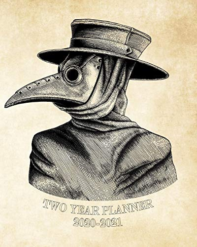 2020-2021 Two Year Planner: Vintage Plague Doctor Mask Goth Weekly 2020-2021 Planner Organizer. Perfect Two Year Motivational Agenda Schedule with ... More! Cool gift for Divers! (Vintage Planner)