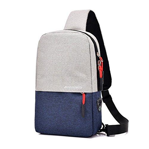 ck eine Tasche für Männer Pack Single Schultertasche weibliche koreanische Version von Casual Sport headset Jack Brust Rucksack (Jack Links Pack)