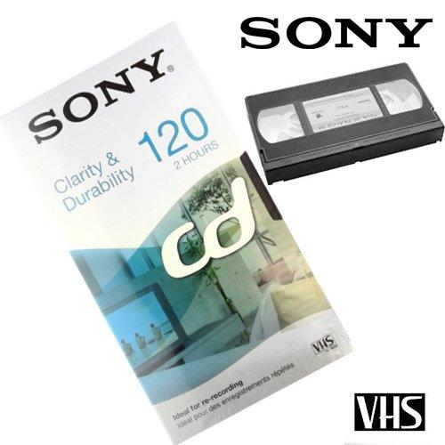 KASSETTE VHS E120 SONY CD TAPE 2 STUNDEN 120 Minuten Video-Box 188.321