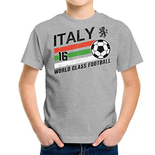 Euro 2016 Football Italy Italia Ball Grey Kid\'s T-Shirt
