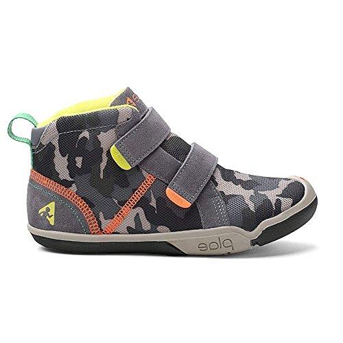 Plae Kids Max Suede/Camo Print Steel Camo Shoe *