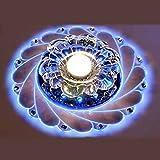 HOMEE Decken-Leuchter-Hanf-Leuchter-Kristallleuchter Peacock führte Deckenbeleuchtung 3W runde Beleuchtung-Eingangskorridor-Halle Lichter der Oberflächenberg-Lampen-Beleuchtung,Blaues Licht