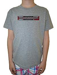 Ocean Spirit Niño Niños Camiseta Cuello Redondo Gris Algodón Manga Corta Boys Kids T-shirt Grey