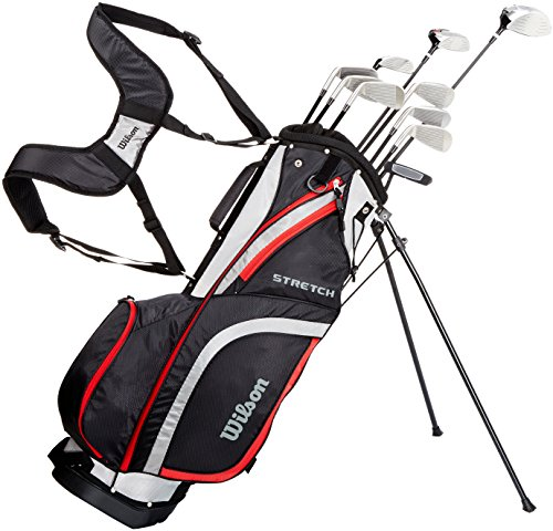 Wilson Men's Stretch Golf Club 10-Club Set With Stand Bag