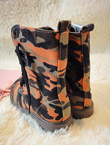 &zhou Femme Martin bottes d'automne et des bottes de camouflage d'hiver la mode 1