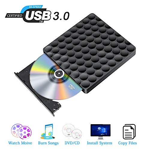 Externes DVD Laufwerk USB 3.0 Highspeed CD Laufwerk Extern USB DVD Brenner Extern Tragbare für Windows 7/8/10 Mac Pro iMac Linux Laptops PC