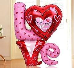 Idea Regalo - Palloncino pallone gonfiabile scritta LOVE amore San Valentino festa party cuori