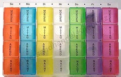 7 Tage Medikamentenbox bunt Tablettendose Tablettenbox Pillendose Pillenbox