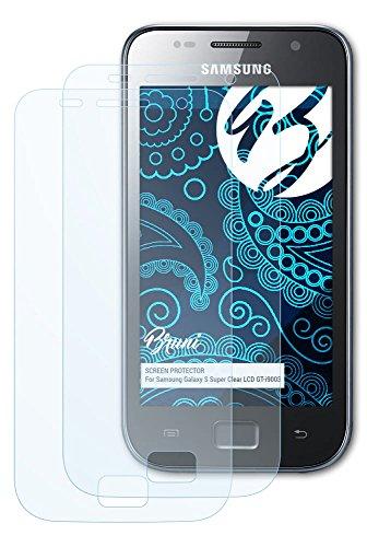 Bruni Samsung Galaxy S Super Clear LCD (GT-i9003) Folie - 2 x glasklare Displayschutzfolie Schutzfolie für Samsung Galaxy S Super Clear LCD (GT-i9003)