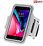 #7: Gansta Grey Color Waterproof Sport Mobile Armband Case Cover For Running Jogging Gym & Universal Riding Sports Pouch Mobile Phone Bag for Men Women