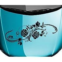 myDruck-Store Bumper Sticker-Flower-Vine Flower Roses Plant Car Sticker 5e192 - Royal Blue Matte, 90cm