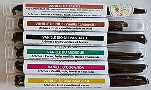 Cave à vanille n°3 : 16 gousses de vanille 100% naturelles de 6 origines différentes