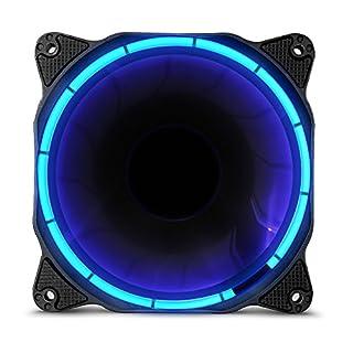 anidees AI Halo Cosmic Blue LED 120mm hoher Luftstrom Gehäuselüfter for PC Case CPU-Kühler und Radiator - Blau