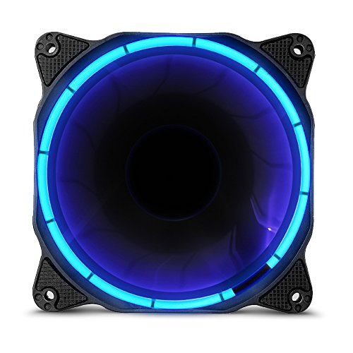 Anidees Halo Cosmic Blue LED 120mm fluisterstille Ventilador–Azul