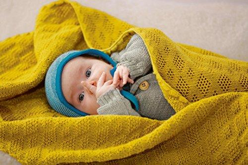 Disana Babydecke 80 x 100 cm aus Merino-Schurwolle kbT, Natur