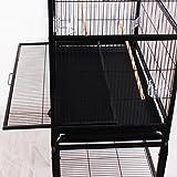 Ridgeyard Großer Vogel Papageienkäfig Haus Playtop Cage Perches mit beweglicher Räder stehen - 7