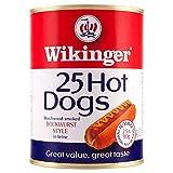 Wikinger 25 Hot Dogs Beechwood Smoked Bockwurst Stil in Salzlake 4100G (Abtropfgewicht 25 x 2250g)