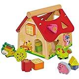 Eichhorn 15-teiliges Steckspielhaus Bauernhof, für Kinder ab 1 Jahr