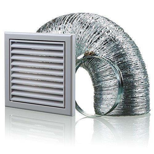 Aluminium-vent Pipe (Blauberg UK bb-chk-150–3-vsgr 150mm Dunstabzugshaube Duct Vent Kit Fan Extractor–Grau)