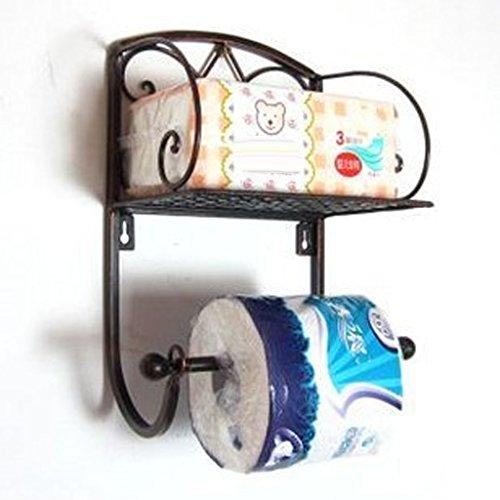 FLAMEER Papierrollenhalter Rollenhalter Küchenrollenhalter mit Lagerregal für Toiletten Oder...
