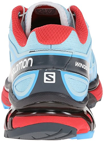 Salomon Wings Pro Women's Chaussure Course Trial Air / Blue Line / Papaya - B
