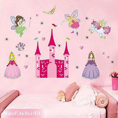 sticker4u-mural-princesse-et-le-chateau-de-conte-de-fees-effet-image-130-x-90-cm-motif-etoiles-coeur