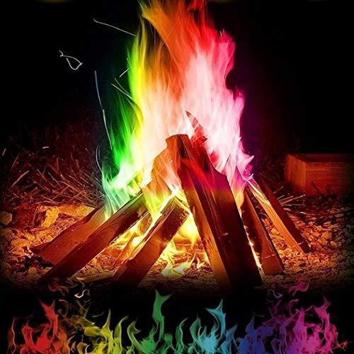 Riotis Mehrfarbenflamme Pulver Flamme, Flammendekoration die im Freienfeuer Partei Versorgungen färb Lichtschaltersticker