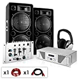 PA Komplett-Set N.Y. Fireblade 2000 Watt Party-Musikanlage mit 1600 Watt