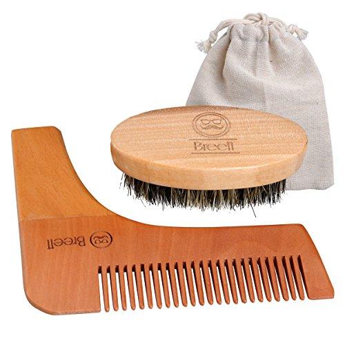 Peigne et brosse à barbe en bois